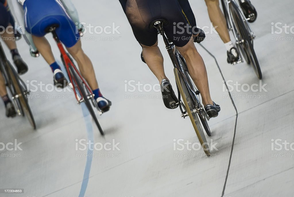 Bicycle Race on Track stock photo