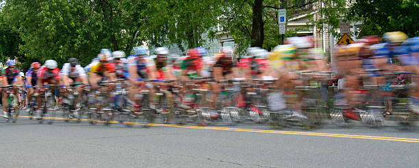 Bicycle Race Panarama stock photo