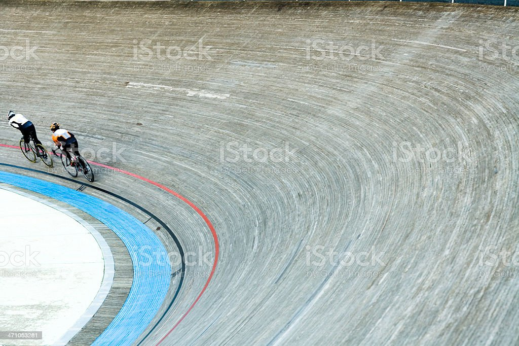 Bicycle Racers Velodrom Speeding stock photo
