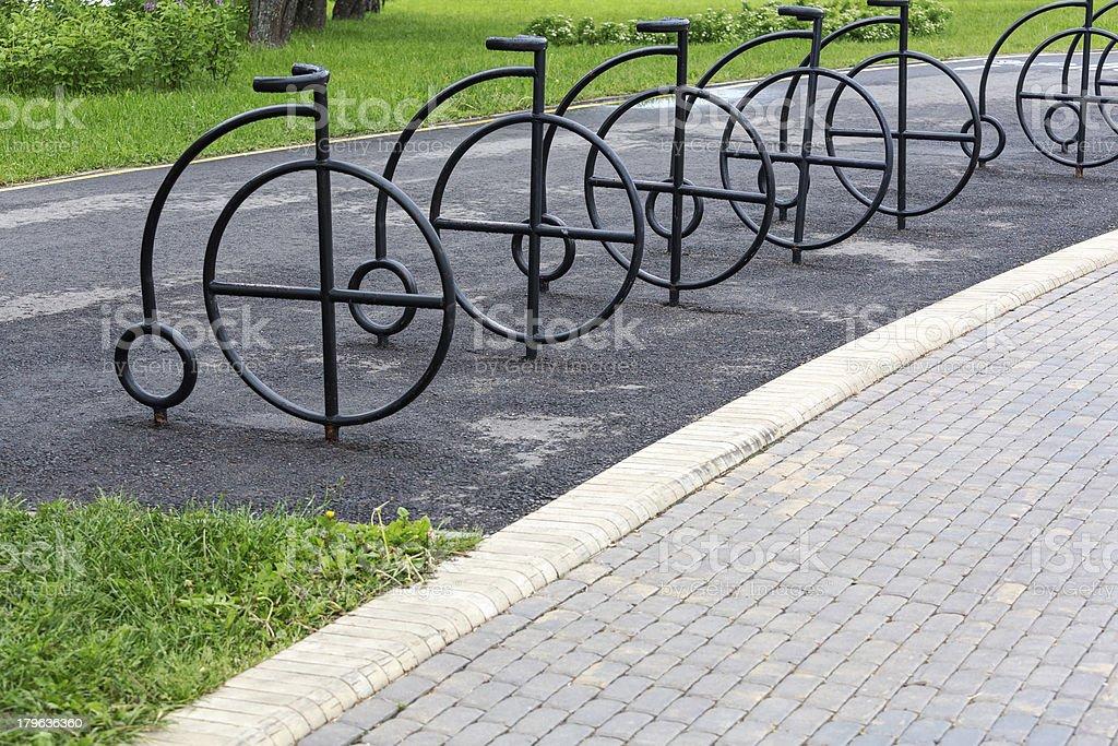 Bicycle rack stock photo