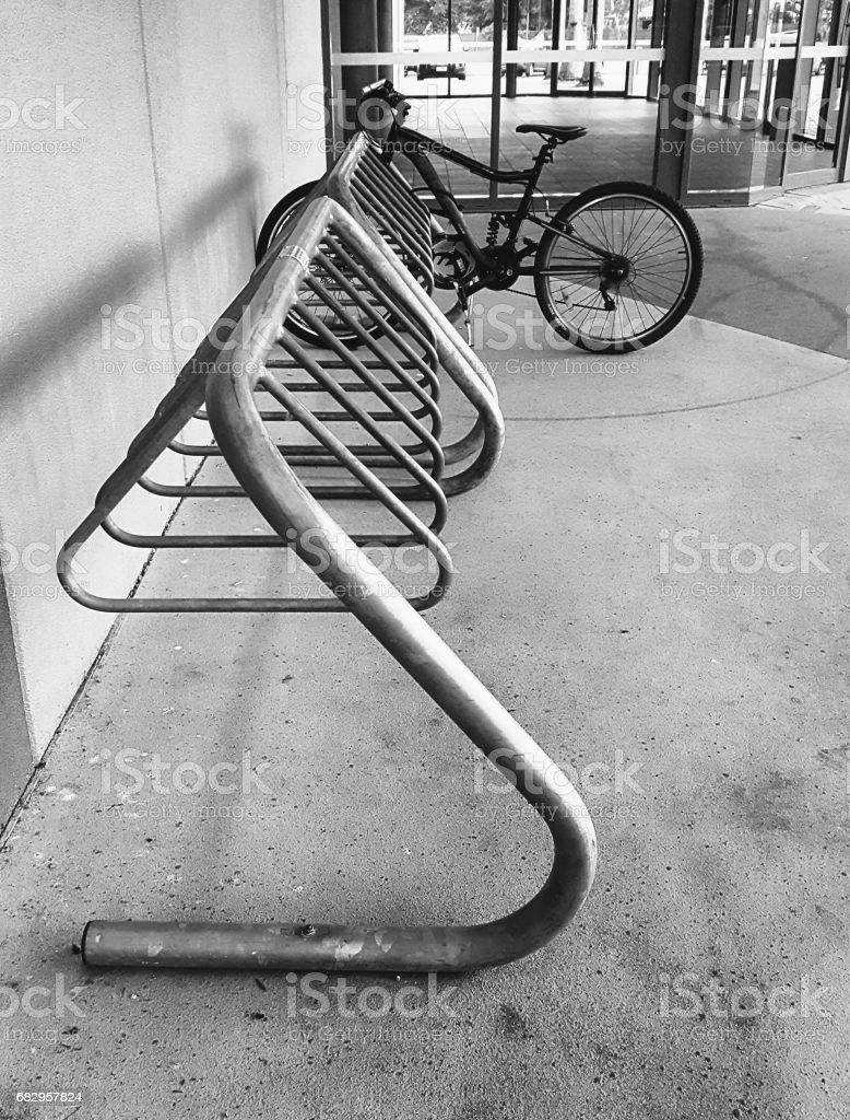 Bicycle Rack. foto de stock royalty-free