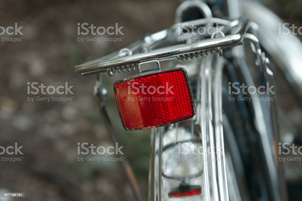 Bicycle Rear Reflector stock photo