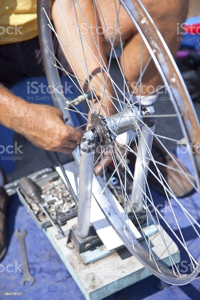 Bicycle Repair royalty-free stock photo