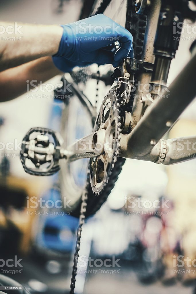 Bicycle Repair Shop royalty-free stock photo