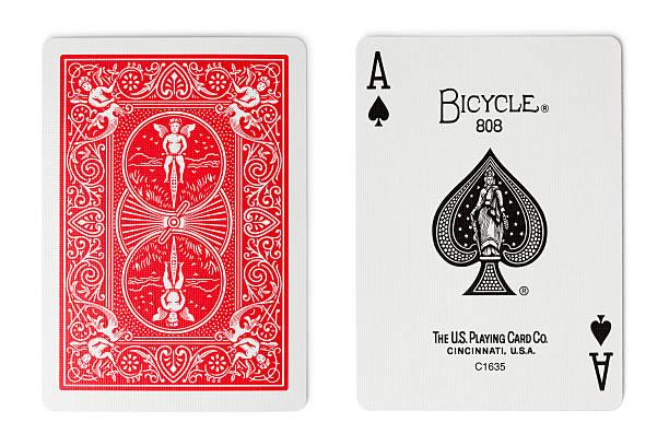 Bicicleta Rider Back Naipes - foto de stock