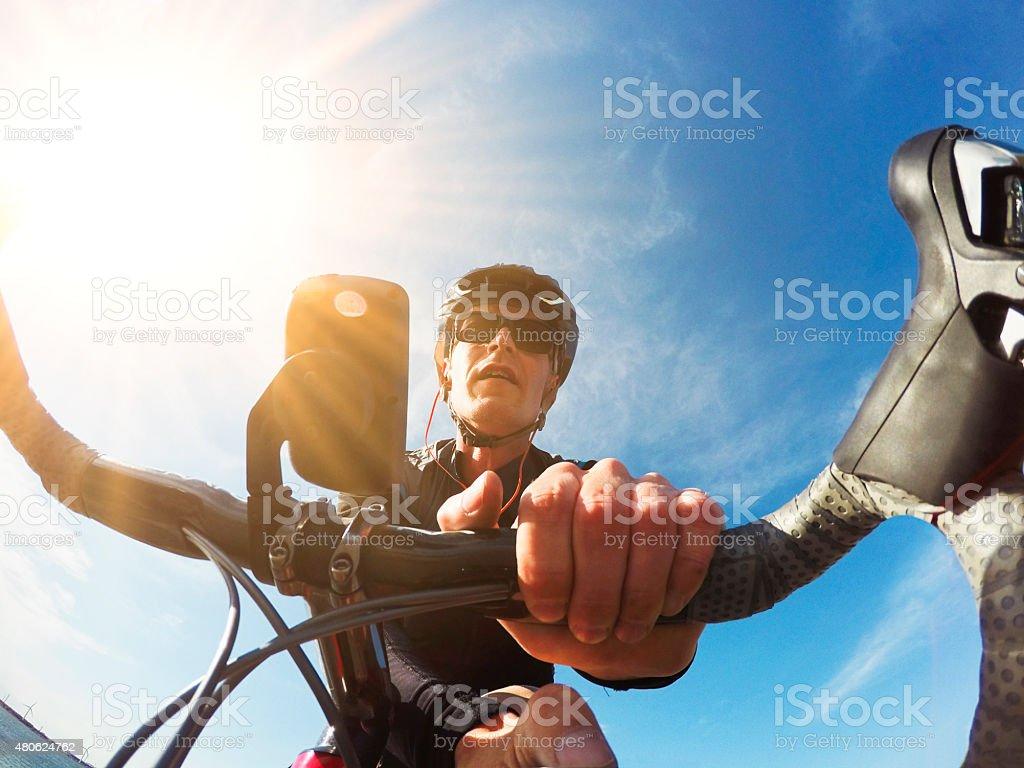 Bicycle Rider stock photo