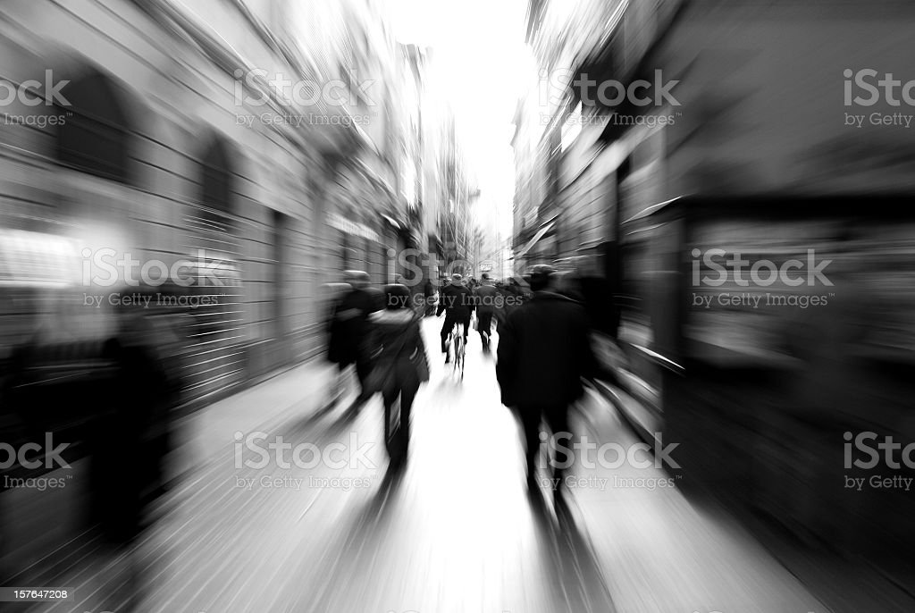 Bicycle Rides In The City royalty-free stock photo