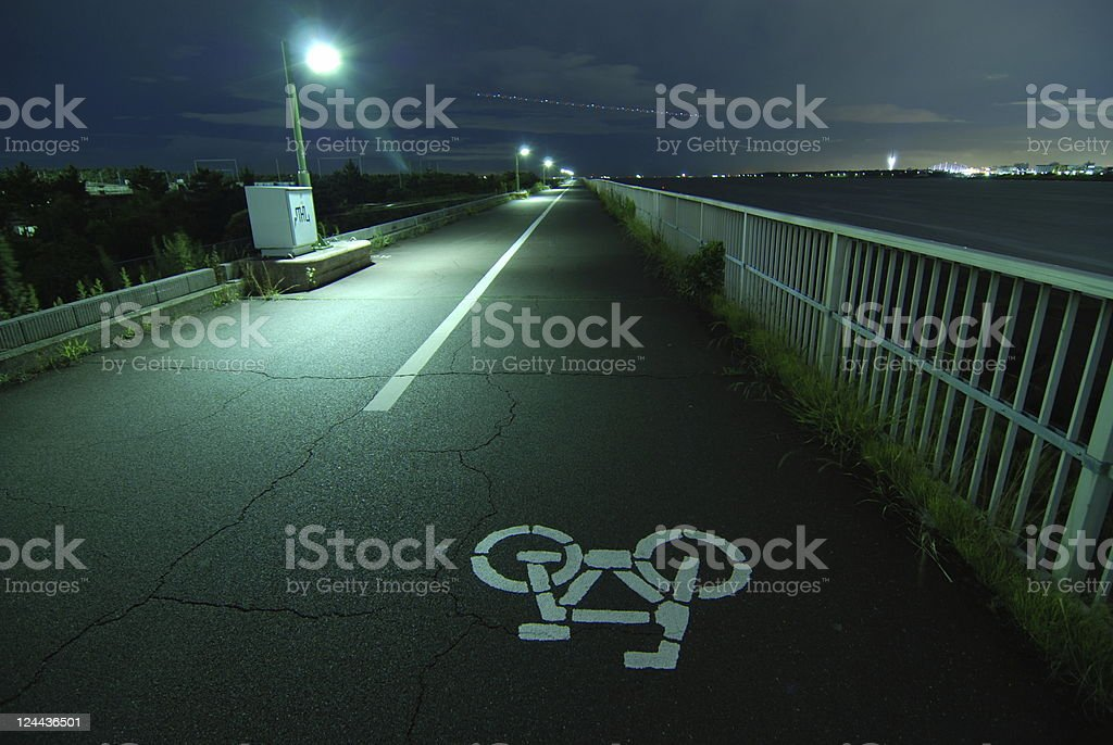bicycle road royalty-free stock photo