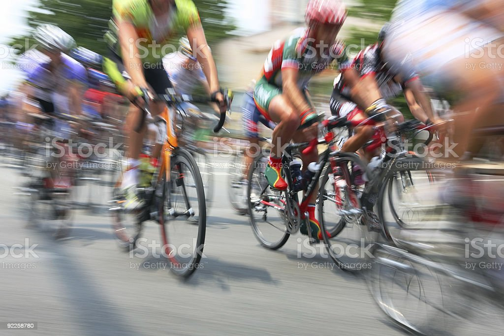Bicycle Road Race stock photo