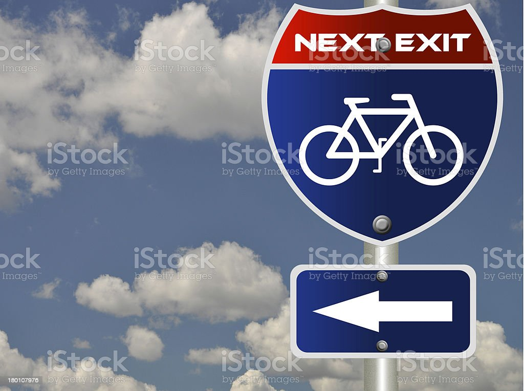 Bicycle road sign royalty-free stock photo