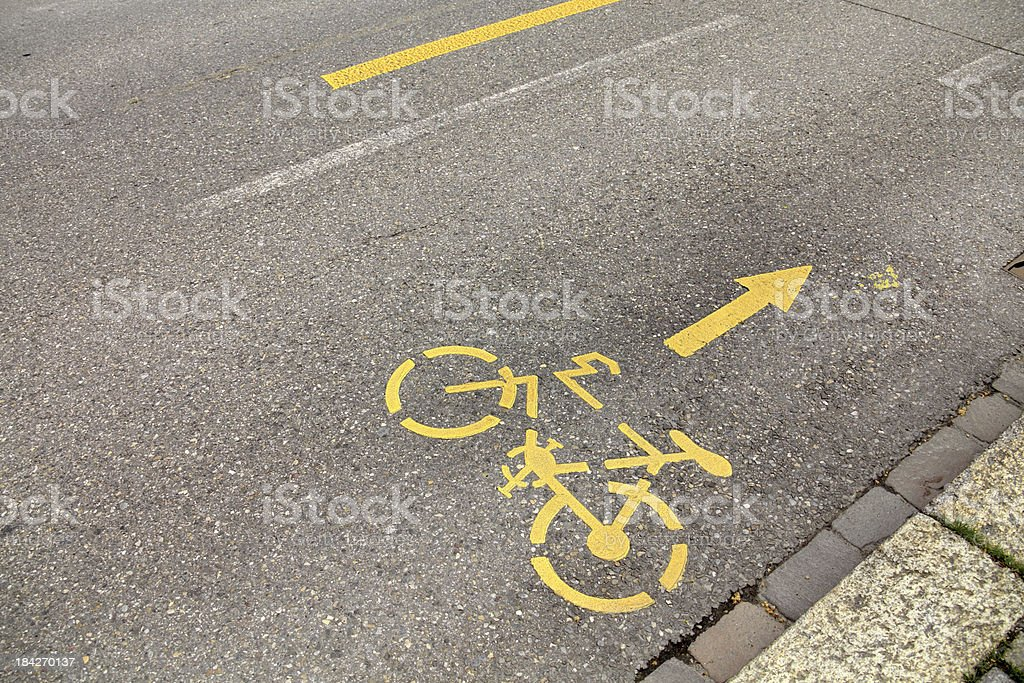 bicycle route royalty-free stock photo
