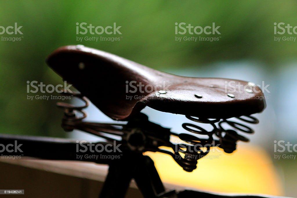 Bicycle saddle stock photo