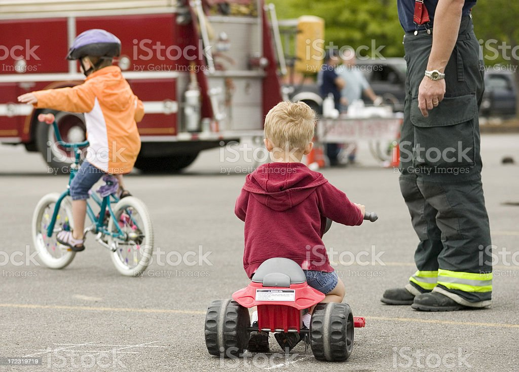 bicycle safety class royalty-free stock photo