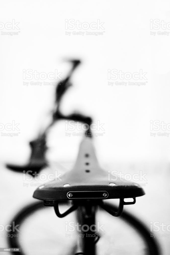 Bicycle seat or saddle stock photo