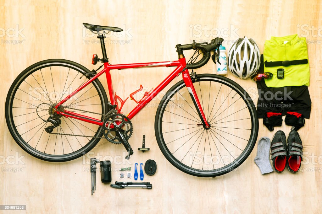 Bicycle set for cycling stock photo