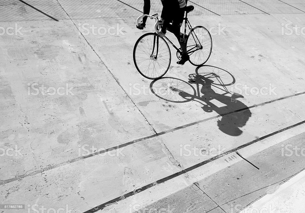 Bicycle Shadow stock photo