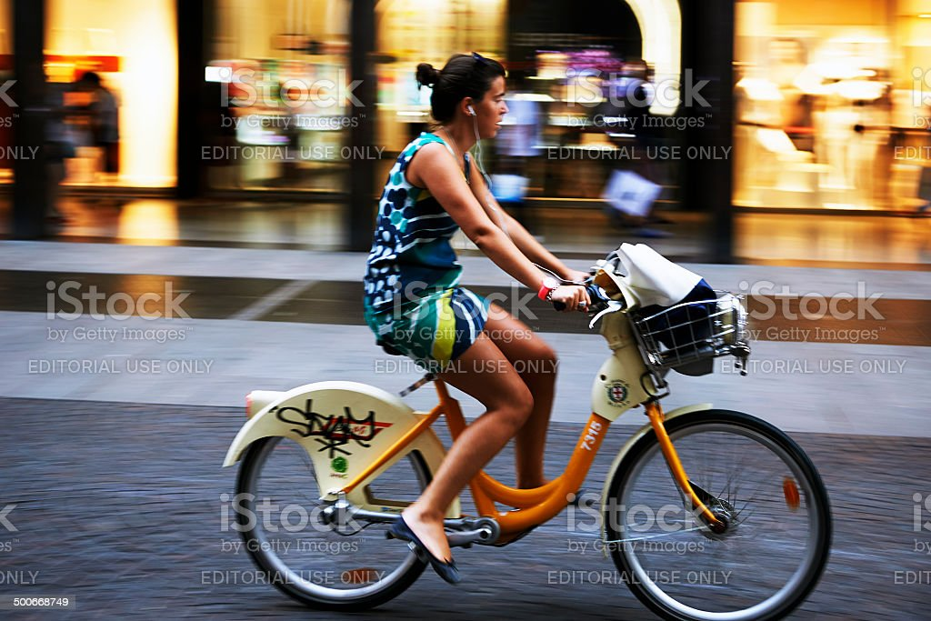 Bicycle Sharing System. Color Image stock photo