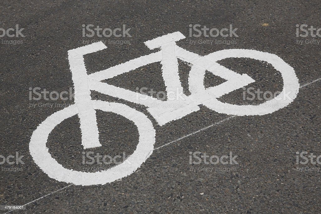 Bicycle Sign royalty-free stock photo