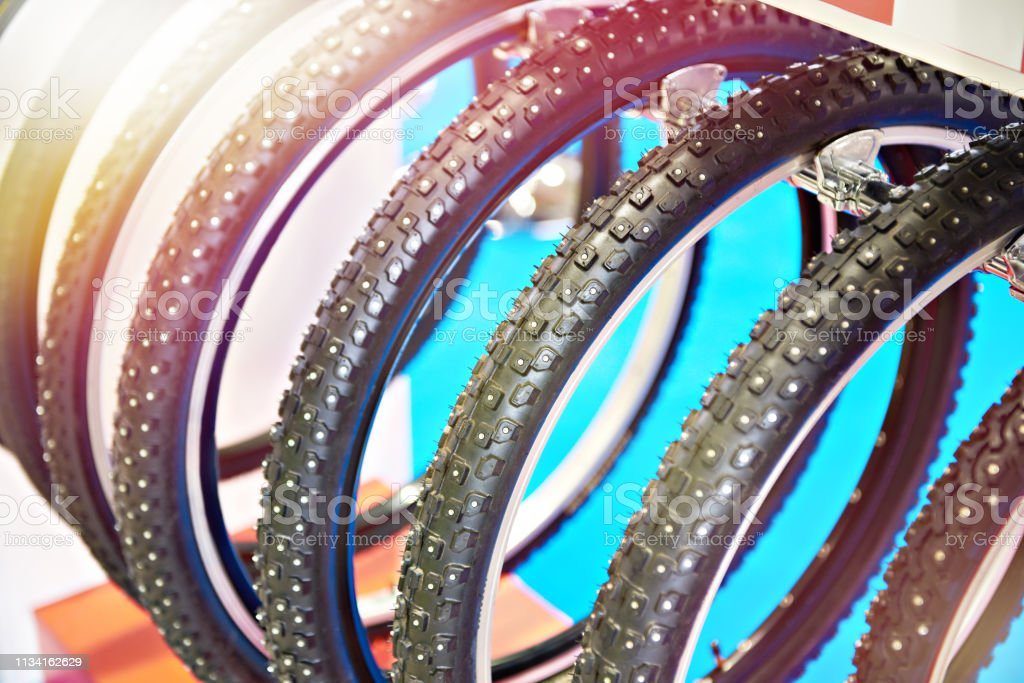 Bicycle winter snow tire with metal studs an assortment of the store