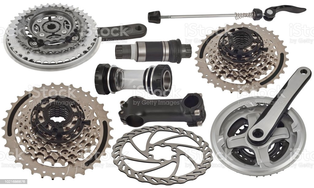 Bicycle Spare Parts For The Repair Of A Bicycle Stock Photo More