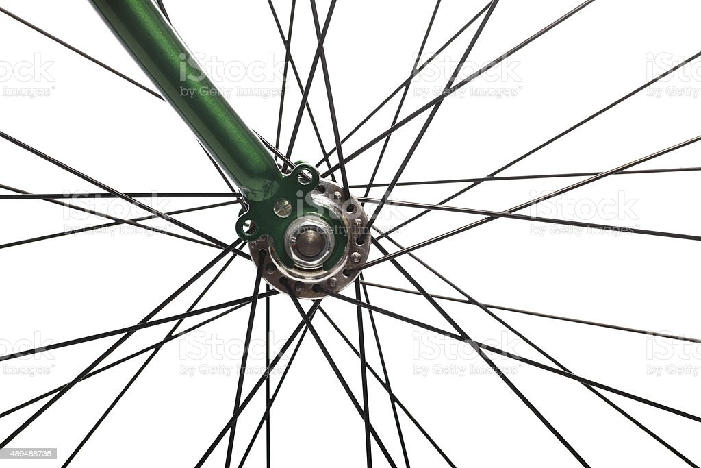 Bicycle spokes stock photo