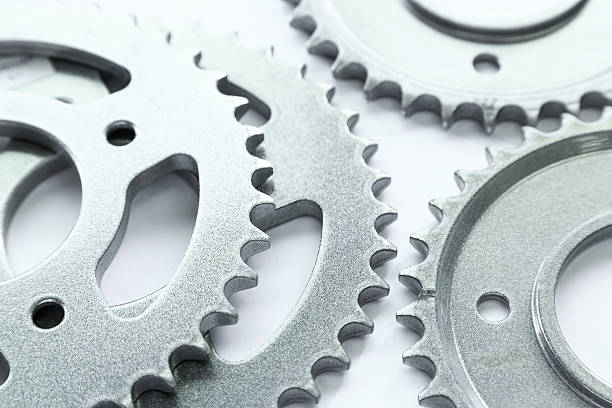 Bicycle sprocket coated with coating powder – Foto