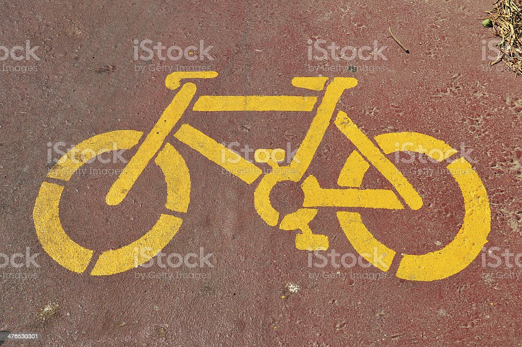 bicycle stencil royalty-free stock photo