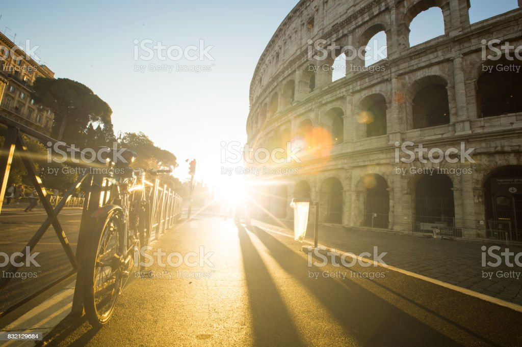 Bicycle stoped stock photo