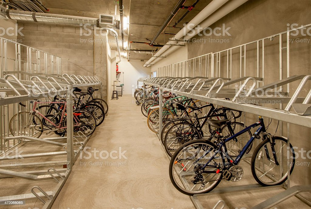 Bicycle Storage stock photo