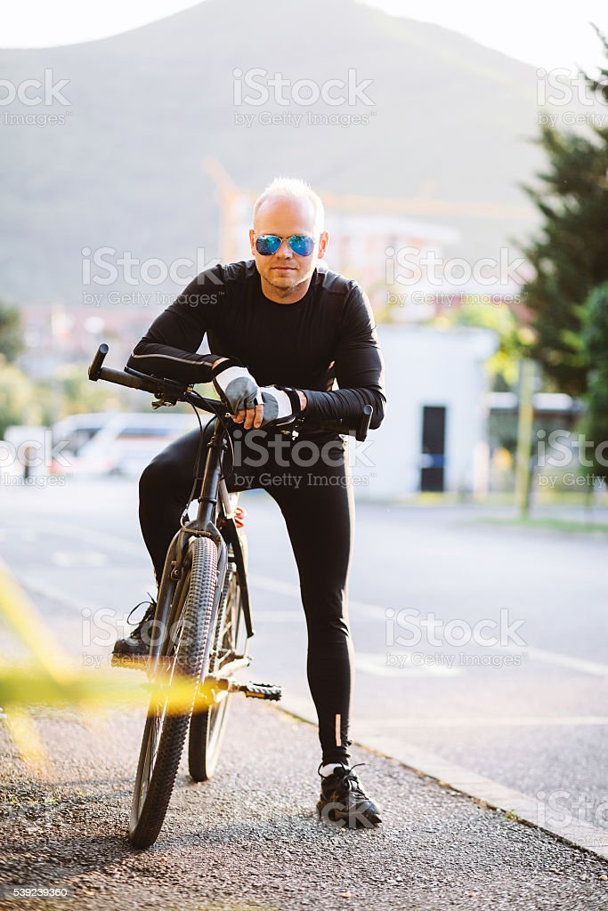 bicycle style man portrait royalty-free stock photo