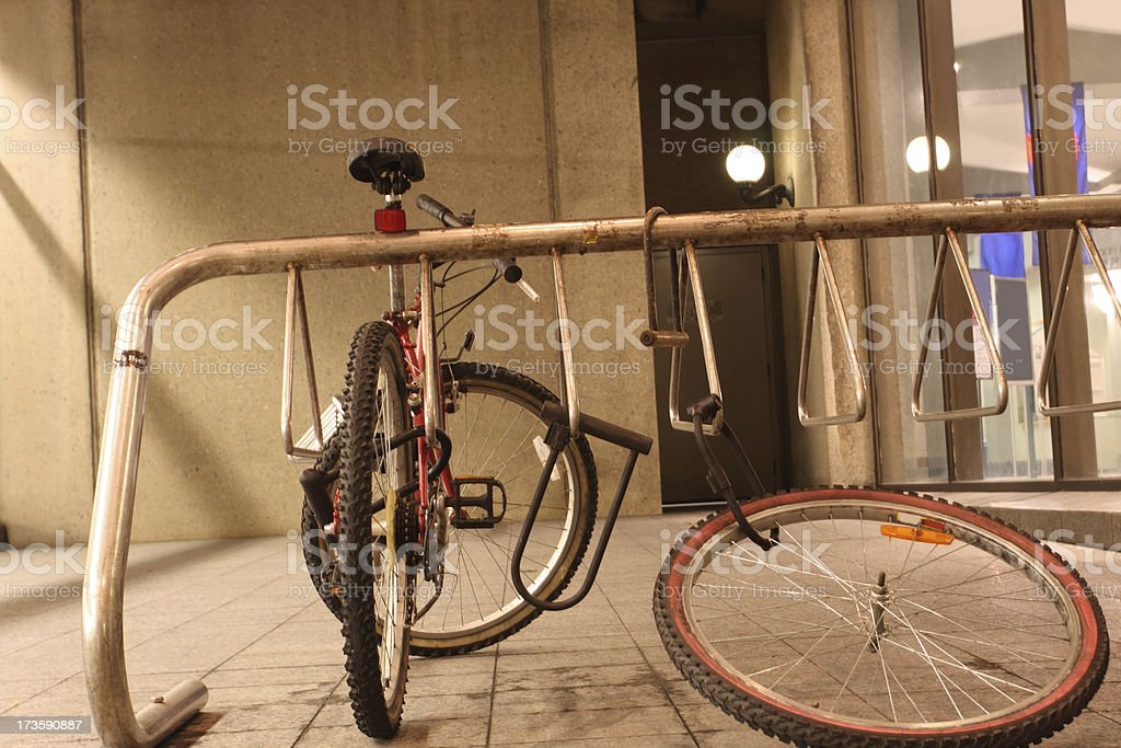 Bicycle theft stock photo