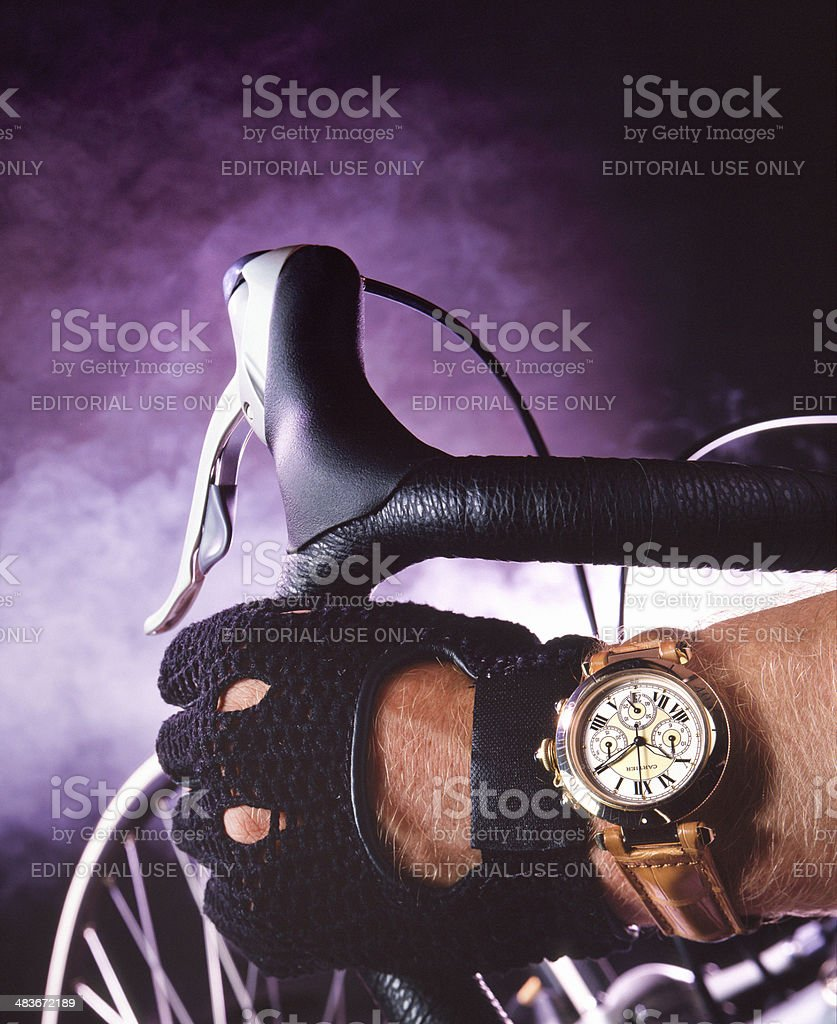 Bicycle  time stock photo