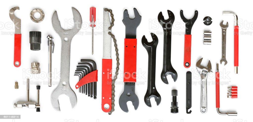 Bicycle tool set stock photo