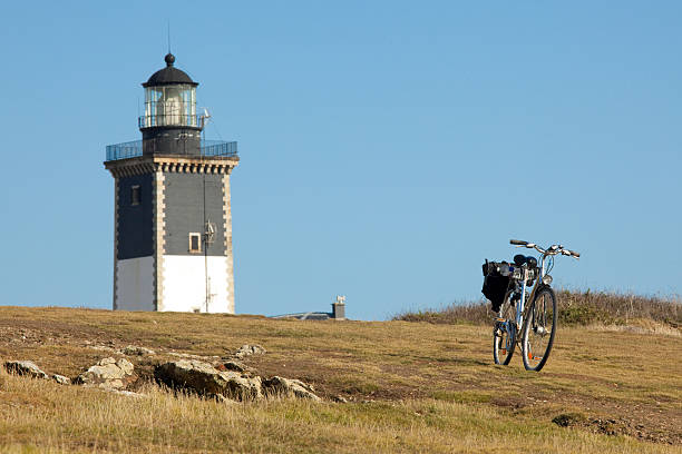 bicycle tourism stock photo