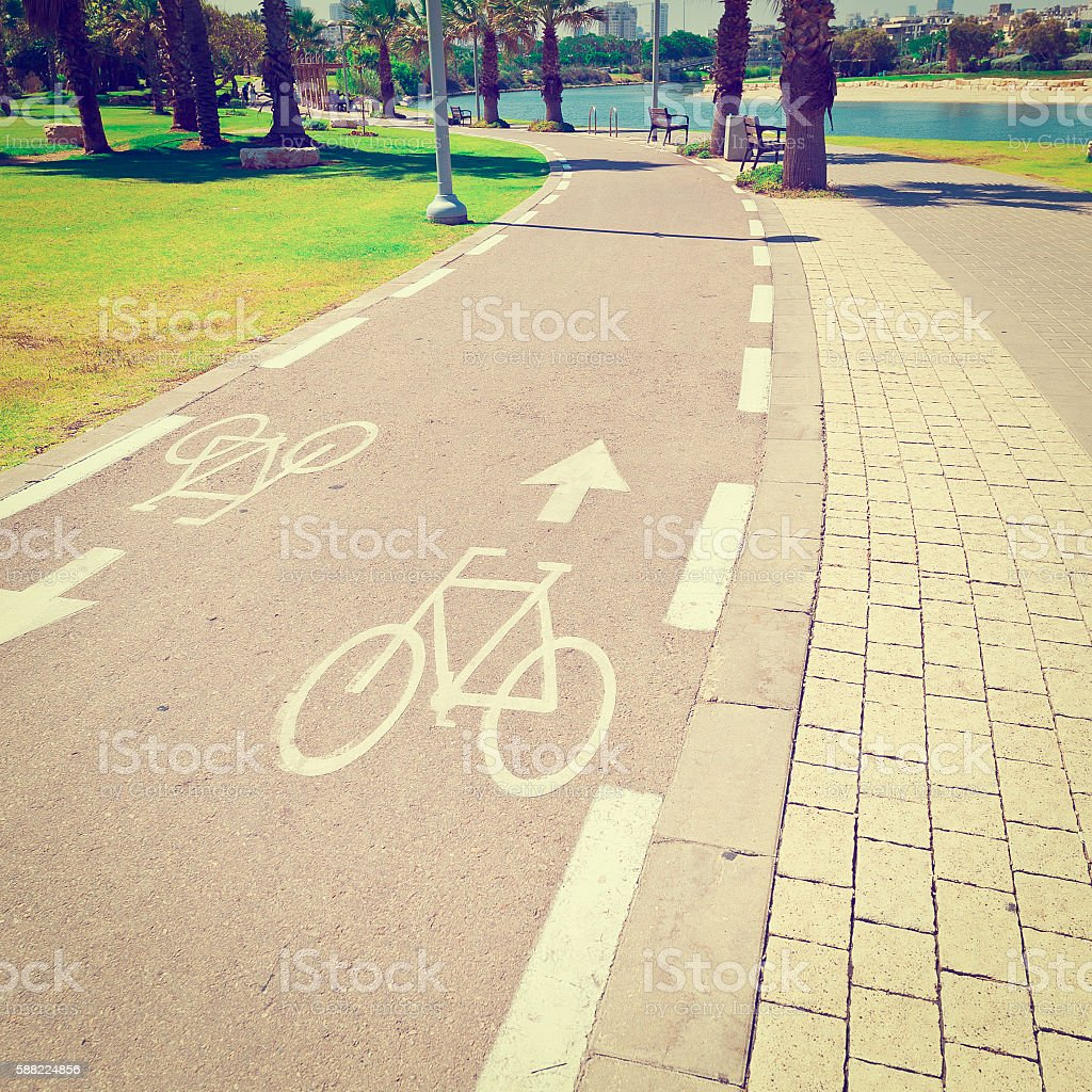 Bicycle Track stock photo