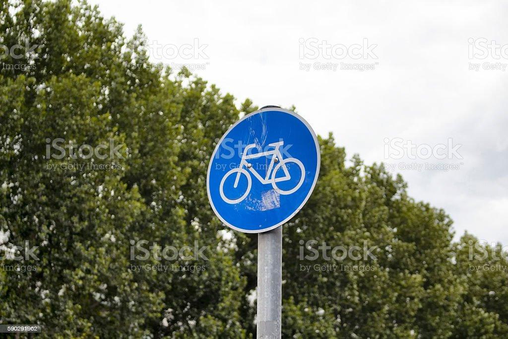 Bicycle traffic sign in Berlin royaltyfri bildbanksbilder