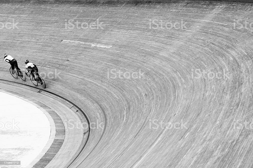bicycle velodrom form design bw royalty-free stock photo