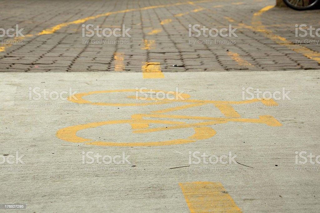 bicycle way royalty-free stock photo