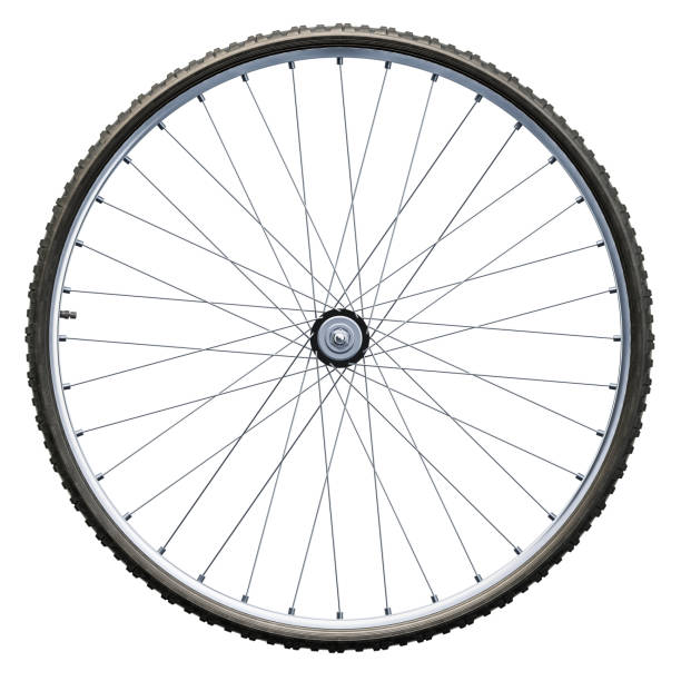 Bicycle wheel closeup Bicycle wheel closeup. 3D rendering isolated on white background wheel stock pictures, royalty-free photos & images
