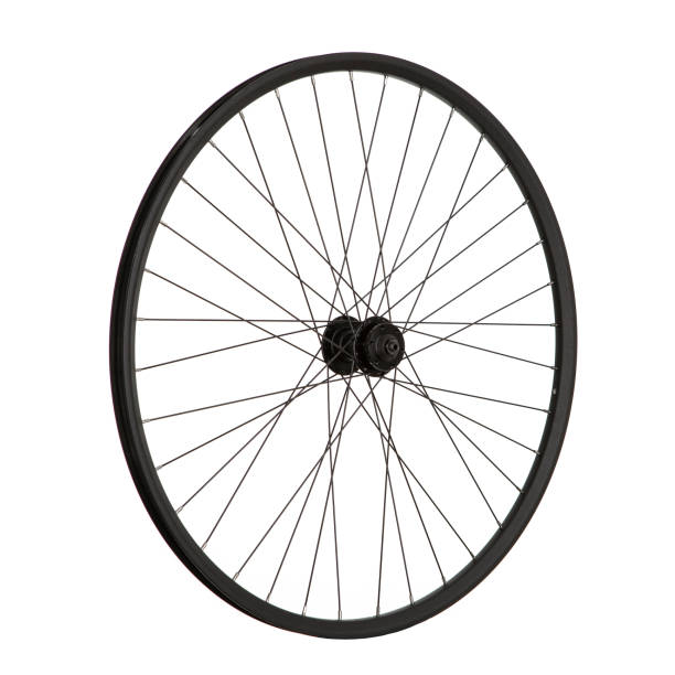 Bicycle wheel on white background for online sale