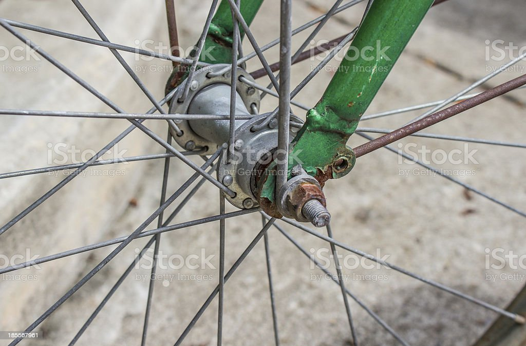 Bicycle wheel royalty-free stock photo
