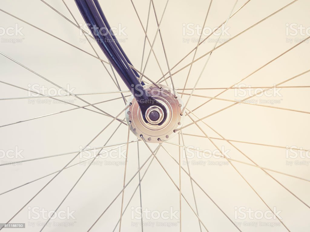 Bicycle Wheel Spoke and Chain details stock photo
