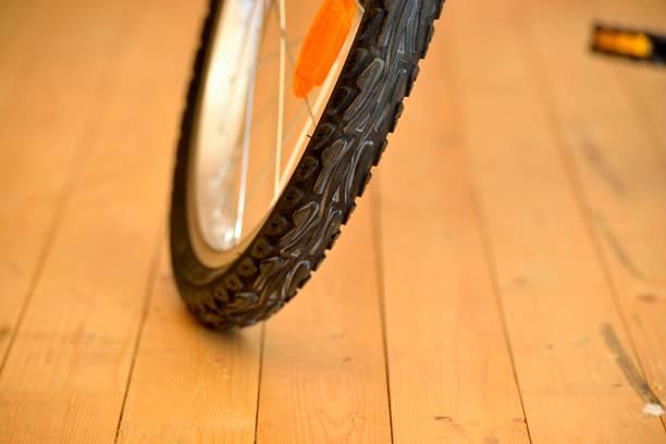 Cтоковое фото Bicycle wheels close up