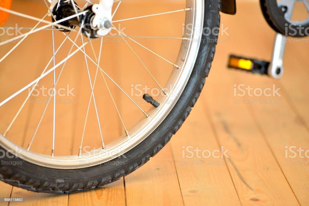 Bicycle wheels close up стоковое фото