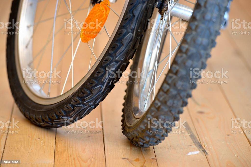 Bicycle wheels close up Стоковые фото Стоковая фотография