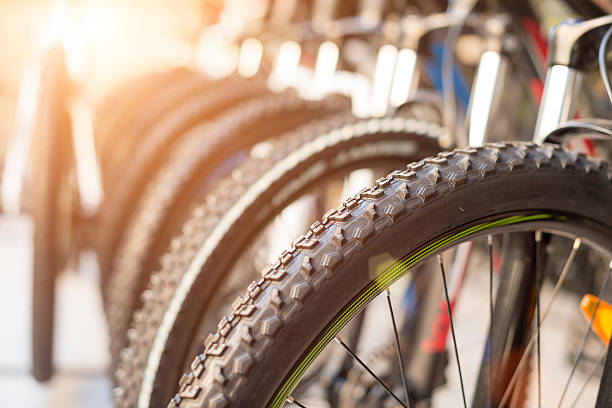 Bicycle Wheels Bicycle wheels, close up shot bicycle shop stock pictures, royalty-free photos & images