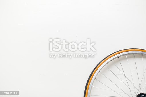 istock Bicycle while close up 626412306