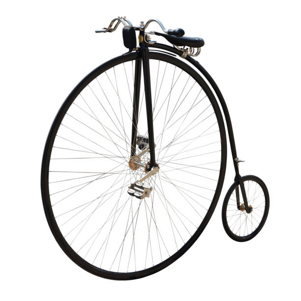 Bicycle with a large front wheel. - foto de stock