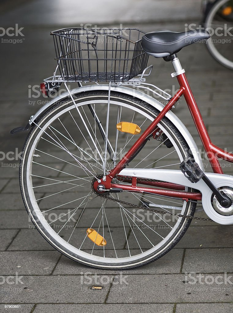 Bicycle with basket royalty-free stock photo