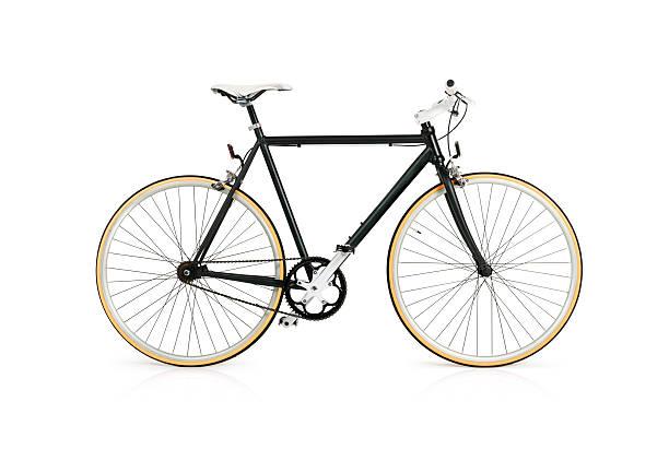 bicicletta con tutta clipping path - ciclismo foto e immagini stock